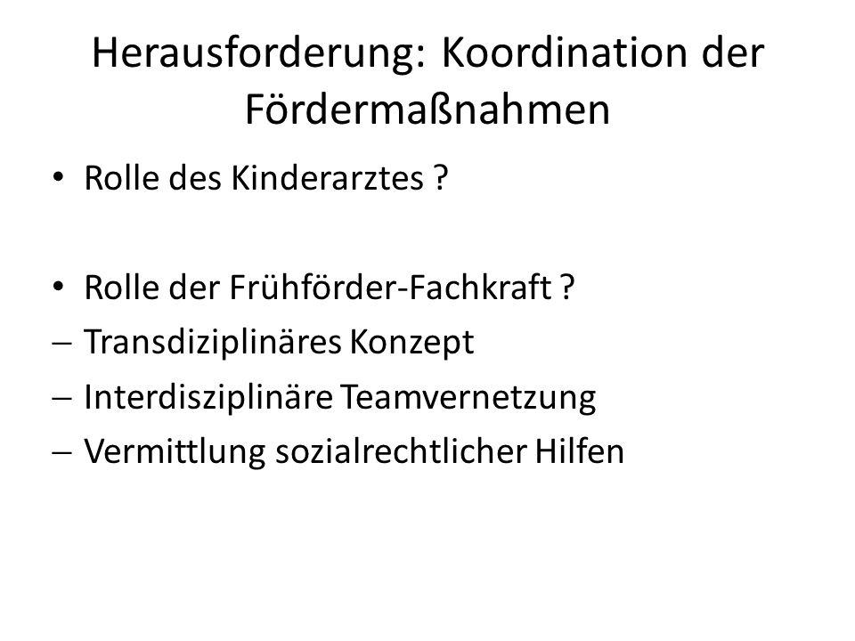 Herausforderung: Koordination der Fördermaßnahmen