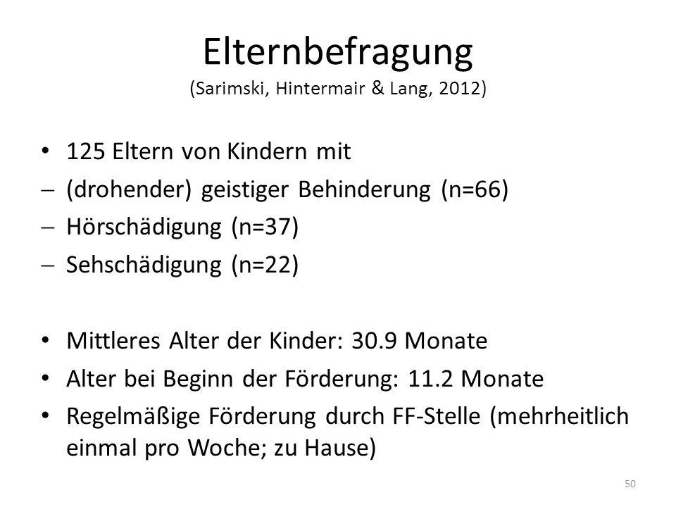Elternbefragung (Sarimski, Hintermair & Lang, 2012)