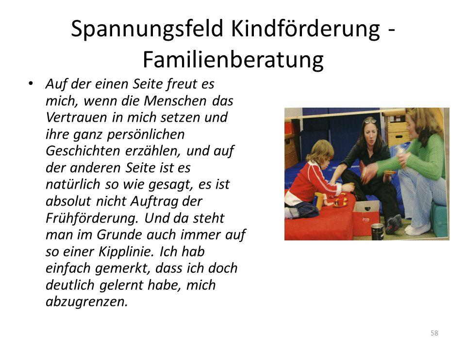 Spannungsfeld Kindförderung - Familienberatung