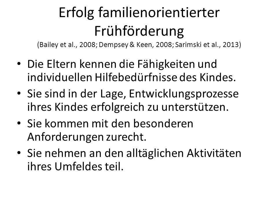 Erfolg familienorientierter Frühförderung (Bailey et al