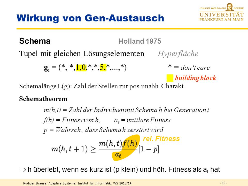Wirkung von Gen-Austausch