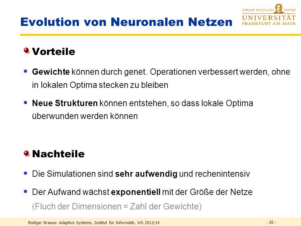 Evolution von Neuronalen Netzen