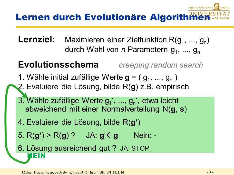 Lernen durch Evolutionäre Algorithmen