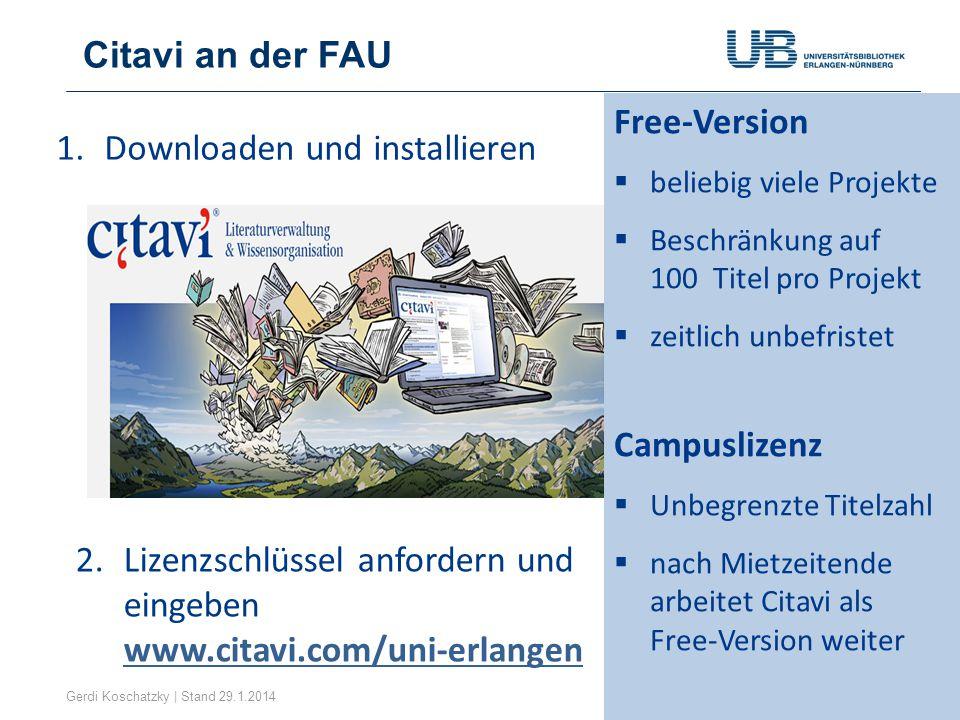 Downloaden und installieren