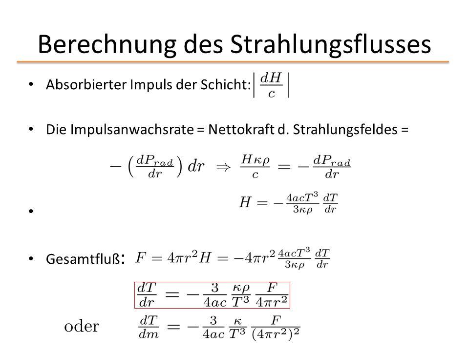 Berechnung des Strahlungsflusses