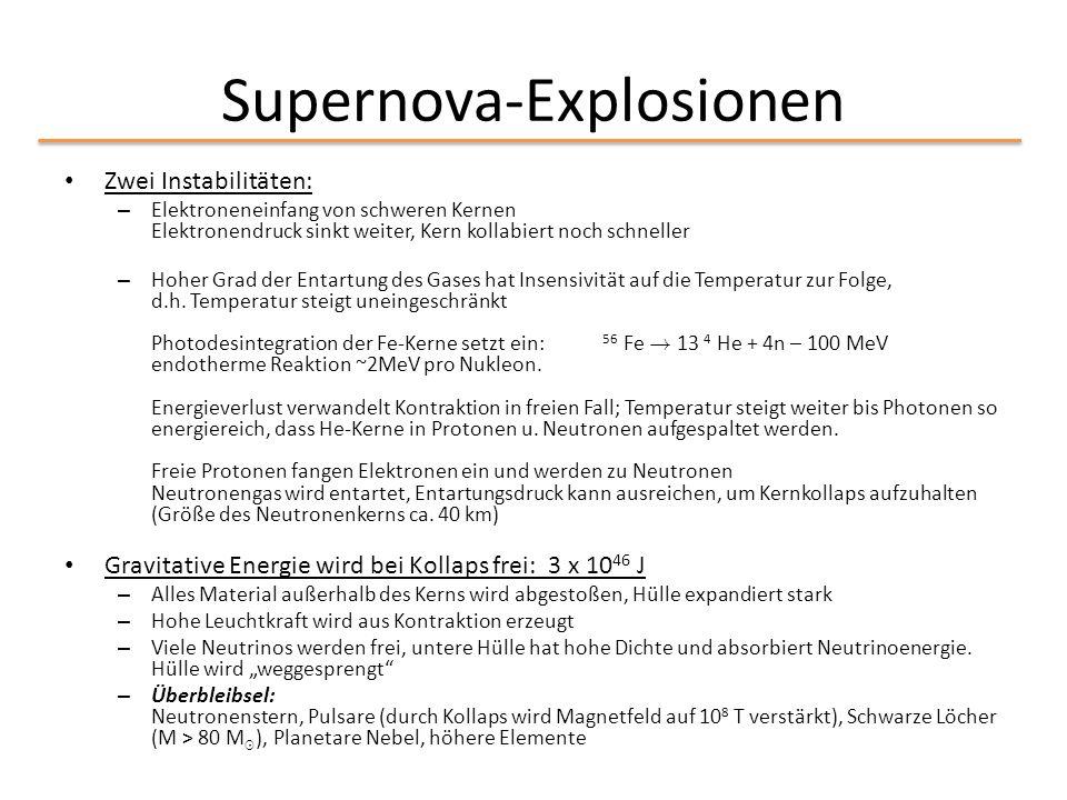 Supernova-Explosionen
