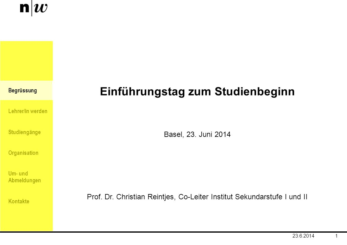 Einführungstag zum Studienbeginn