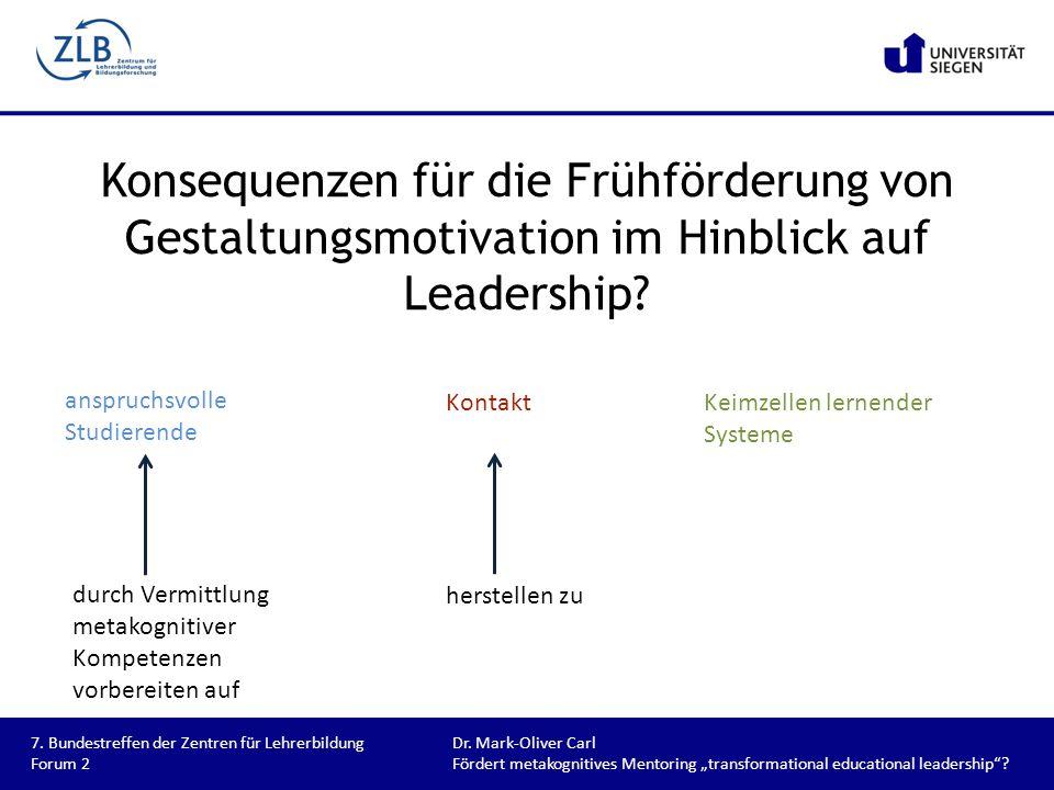 Konsequenzen für die Frühförderung von Gestaltungsmotivation im Hinblick auf Leadership