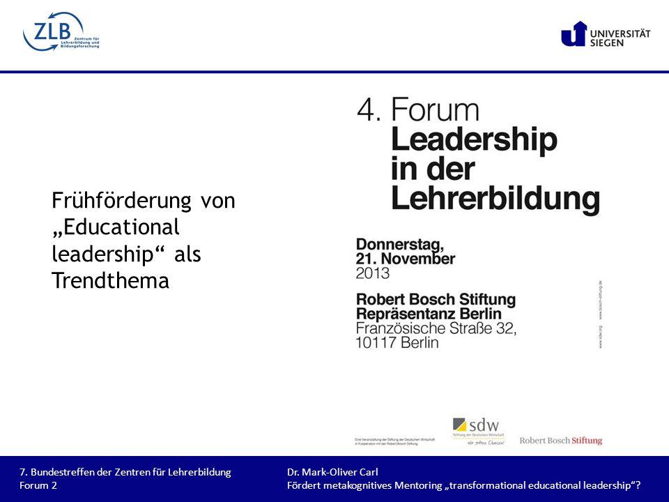 "Frühförderung von ""Educational leadership als Trendthema"