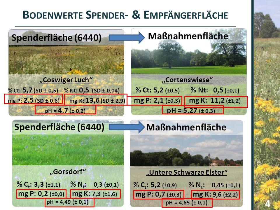"""Bodenwerte Spender- & Empfängerfläche """"Untere Schwarze Elster"""