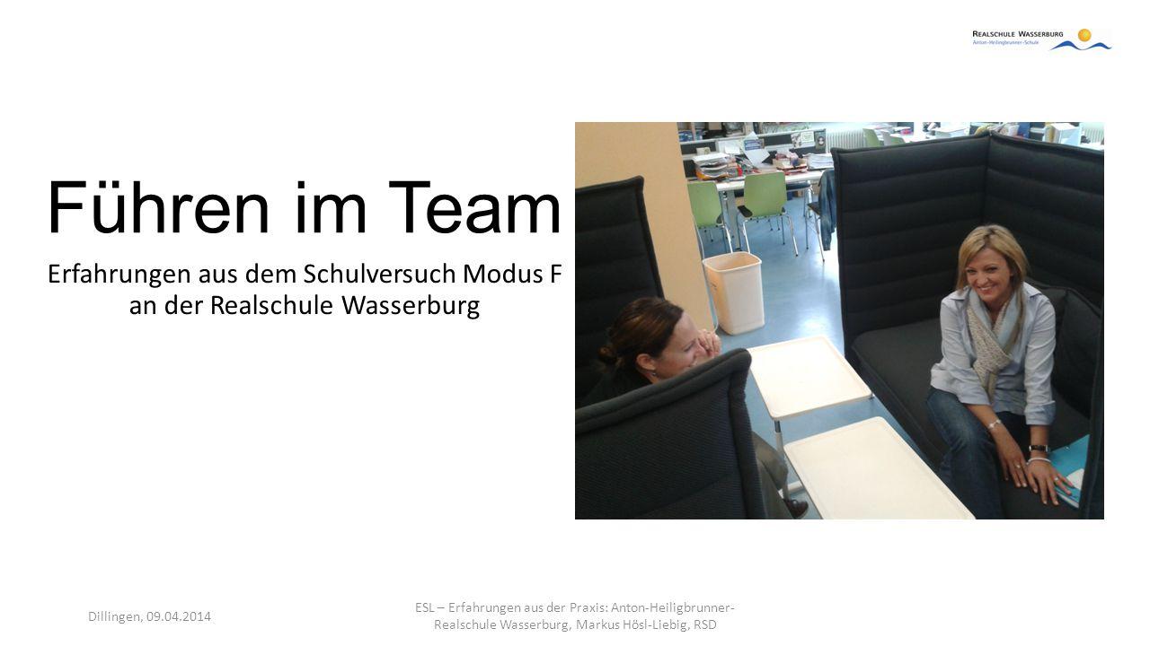 Erfahrungen aus dem Schulversuch Modus F an der Realschule Wasserburg