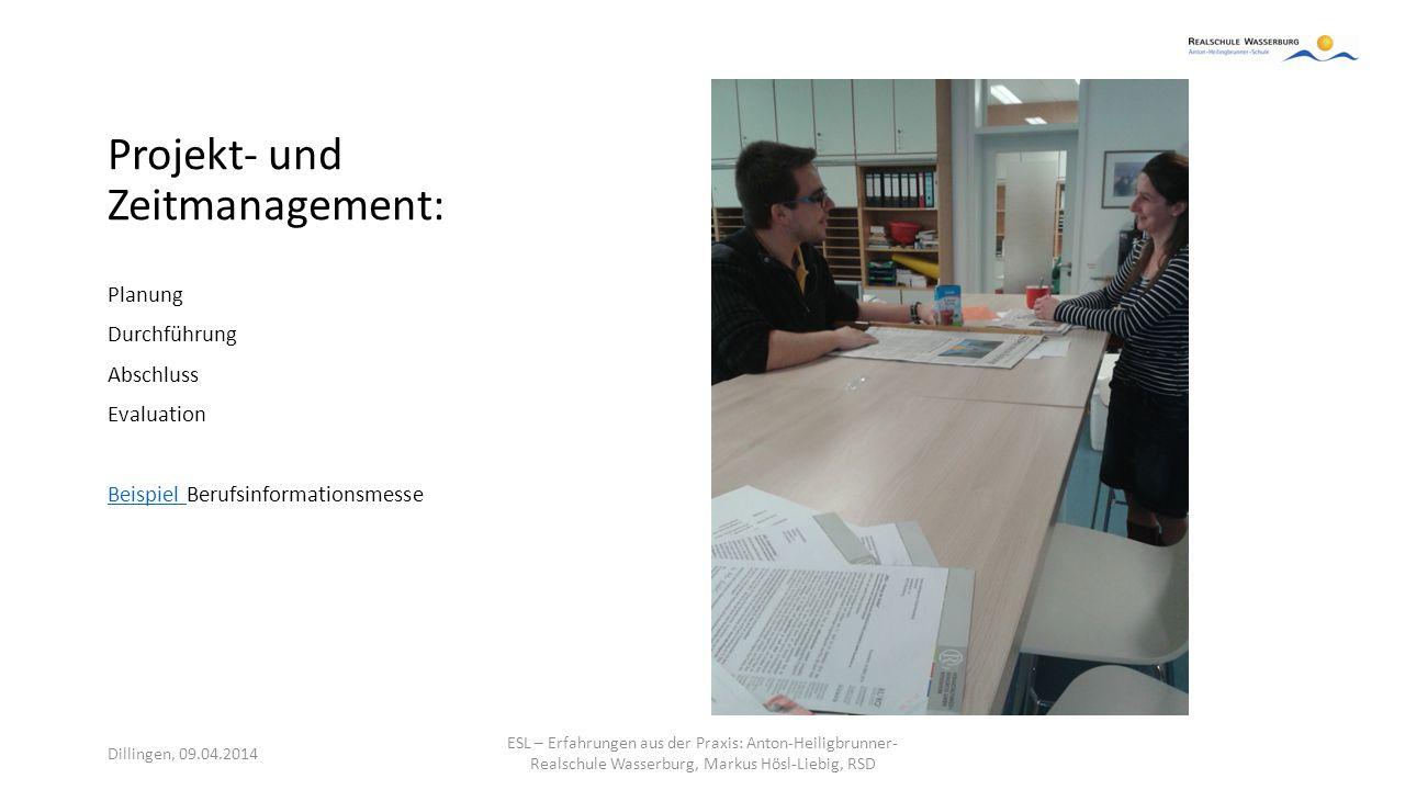 Projekt- und Zeitmanagement: