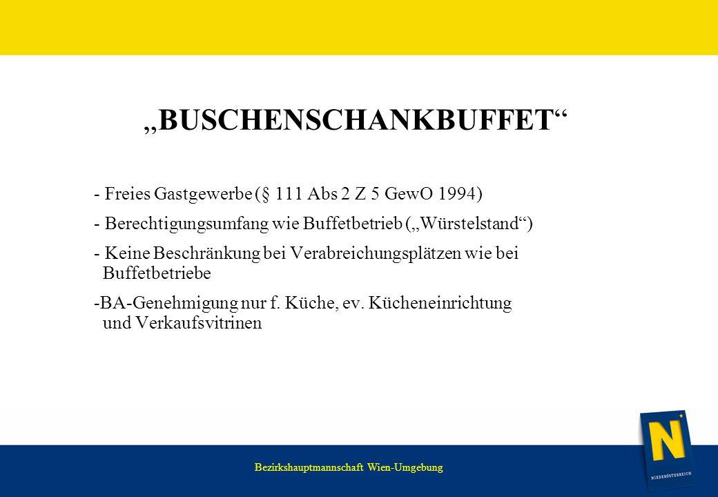 """""""Buschenschankbuffet"""