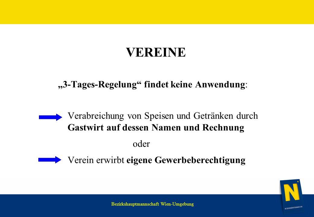 """VEREINE """"3-Tages-Regelung findet keine Anwendung: oder"""