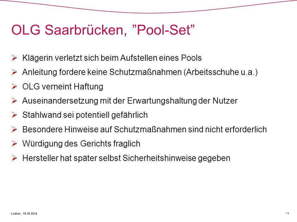 OLG Saarbrücken, Pool-Set