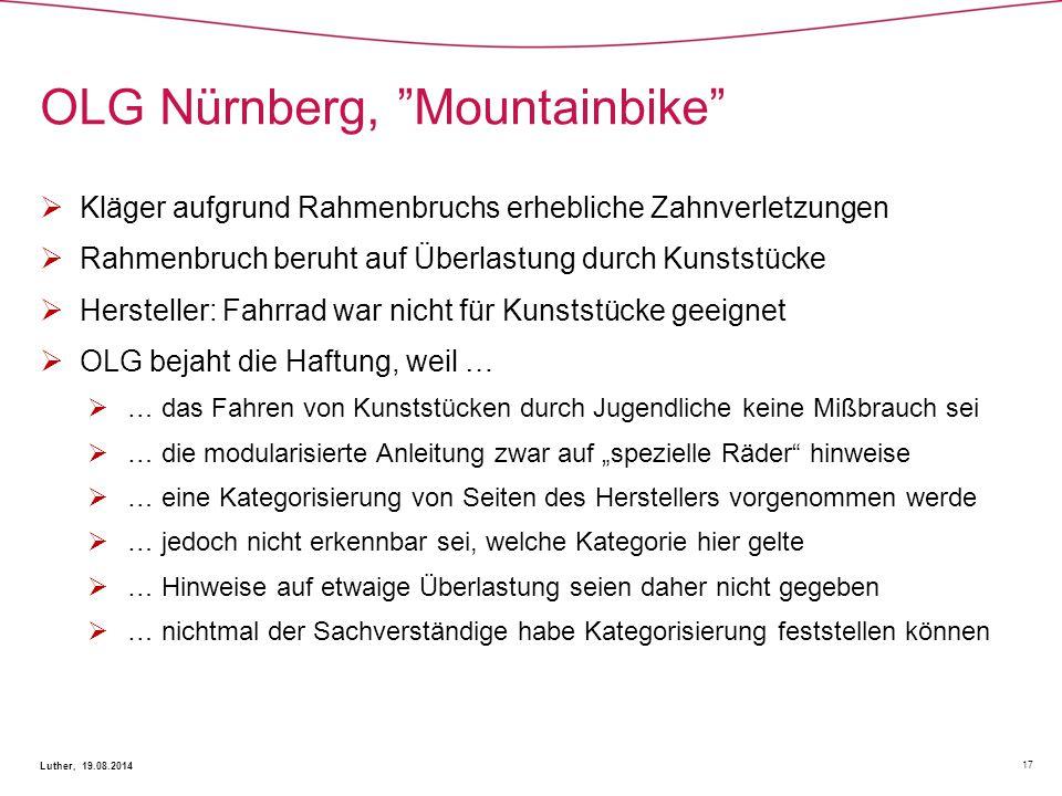 OLG Nürnberg, Mountainbike