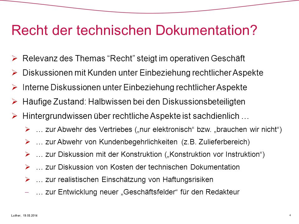 Recht der technischen Dokumentation