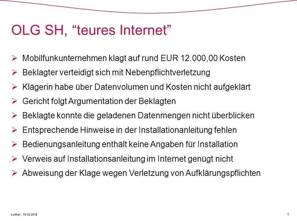 OLG SH, teures Internet