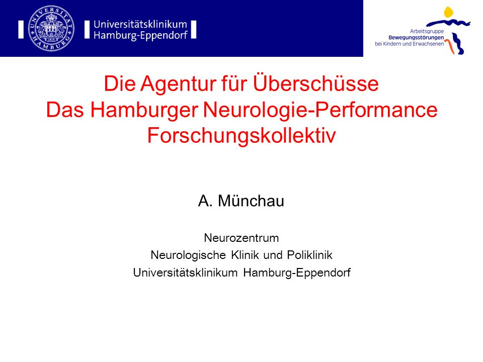 Die Agentur für Überschüsse Das Hamburger Neurologie-Performance Forschungskollektiv
