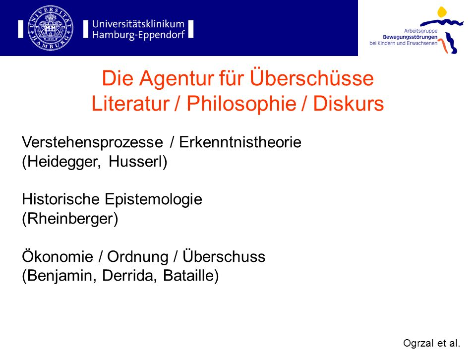 Die Agentur für Überschüsse Literatur / Philosophie / Diskurs