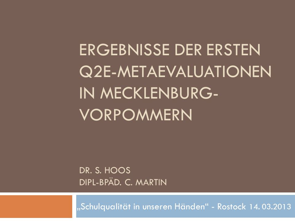Dr. S. Hoos Dipl-Bpäd. C. Martin