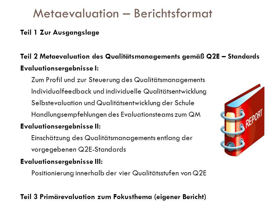 Metaevaluation – Berichtsformat
