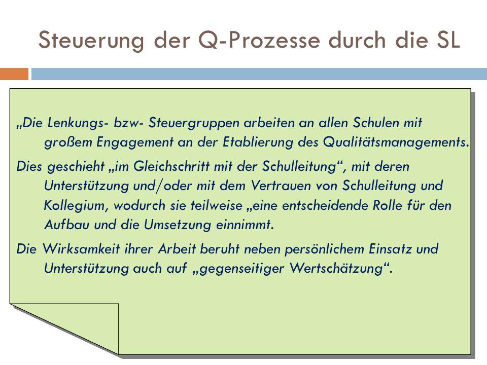 Steuerung der Q-Prozesse durch die SL