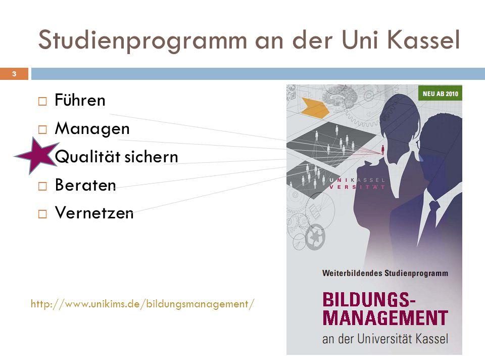 Studienprogramm an der Uni Kassel