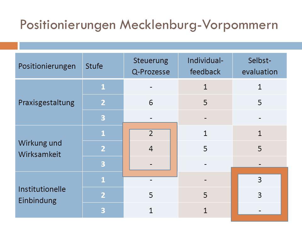 Positionierungen Mecklenburg-Vorpommern