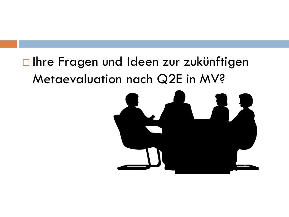 Ihre Fragen und Ideen zur zukünftigen Metaevaluation nach Q2E in MV