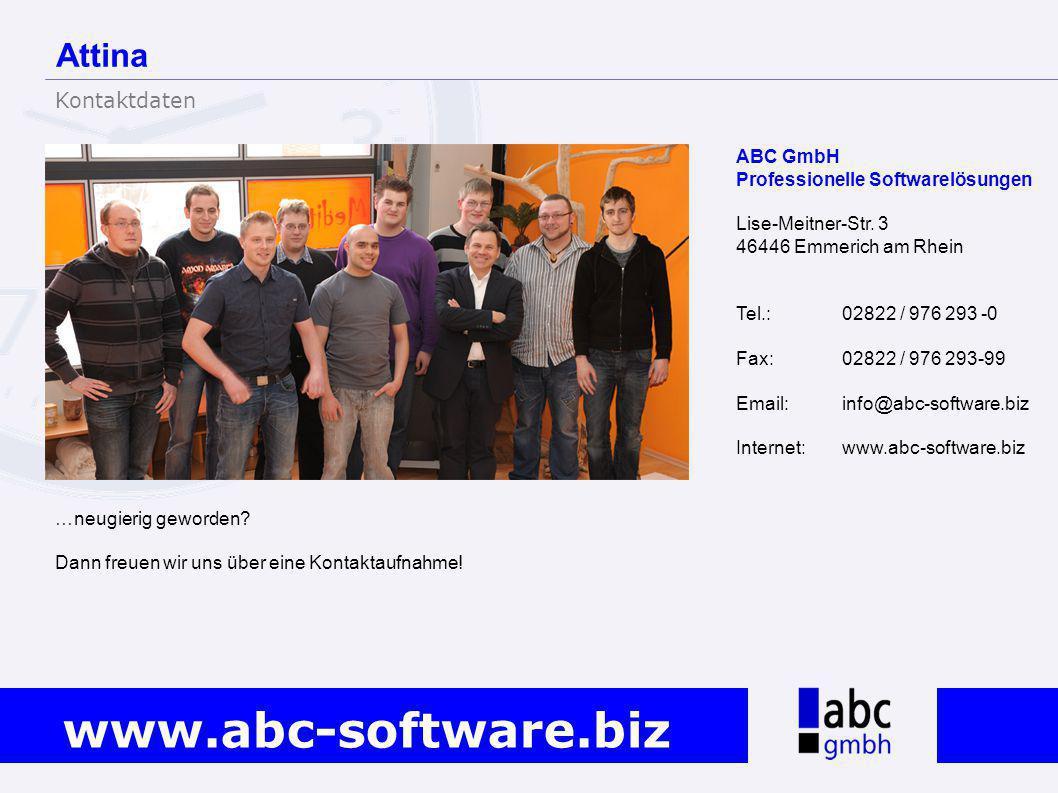 Attina Kontaktdaten ABC GmbH Professionelle Softwarelösungen