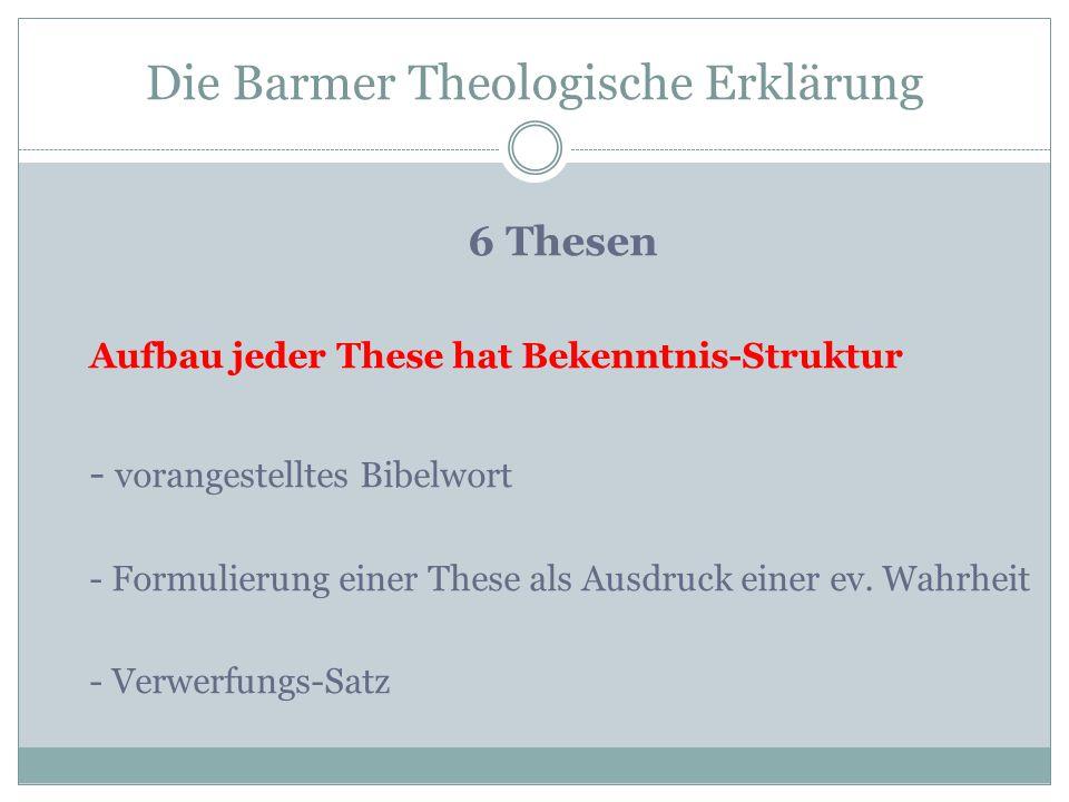 Die Barmer Theologische Erklärung
