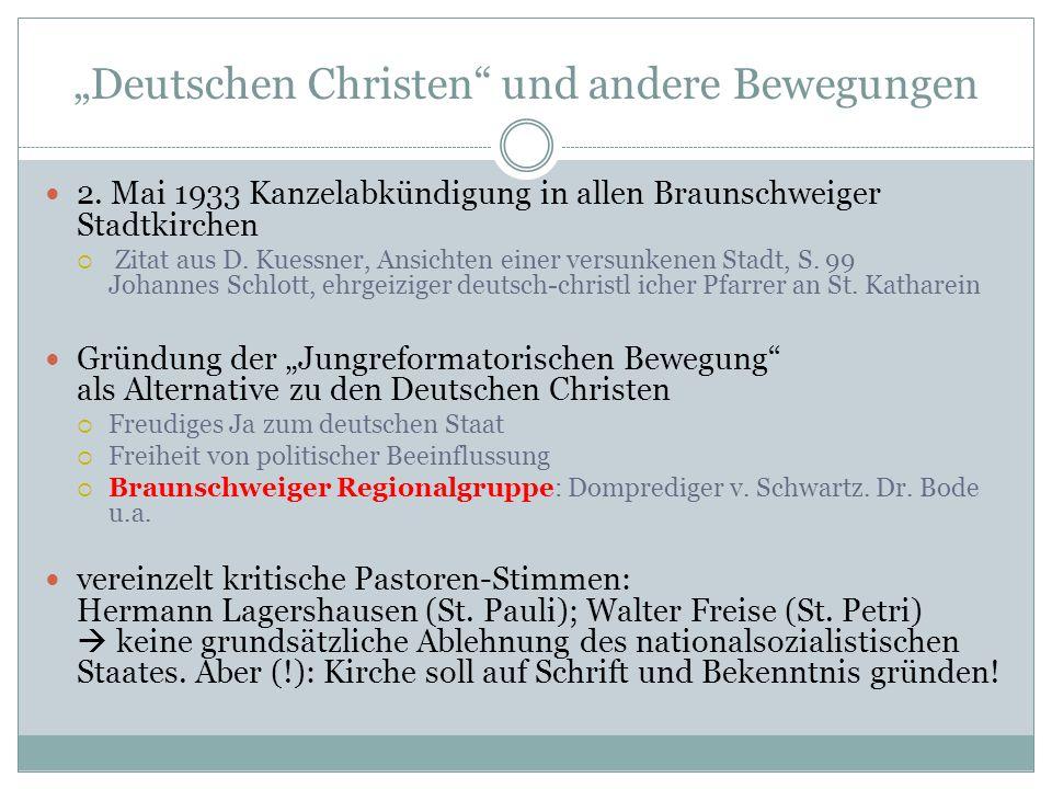"""""""Deutschen Christen und andere Bewegungen"""