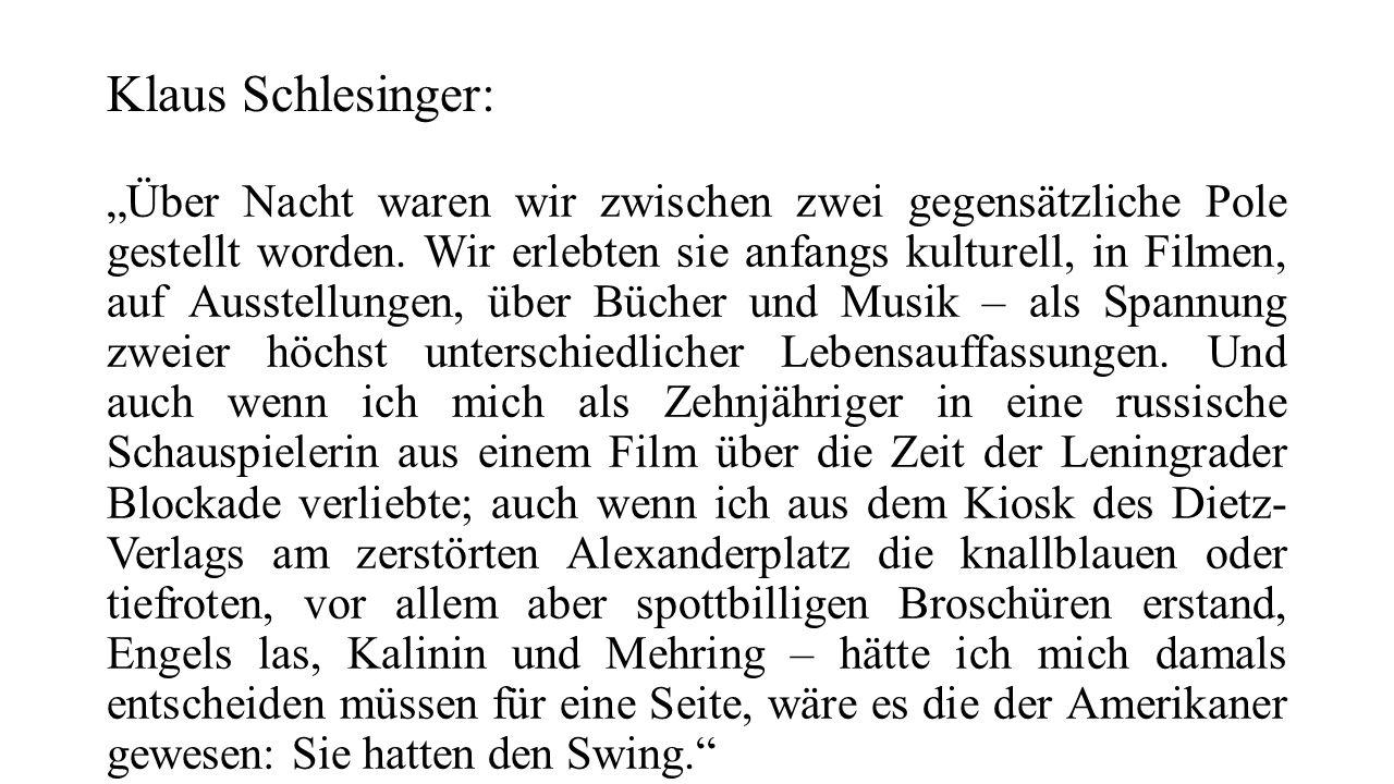 Klaus Schlesinger: