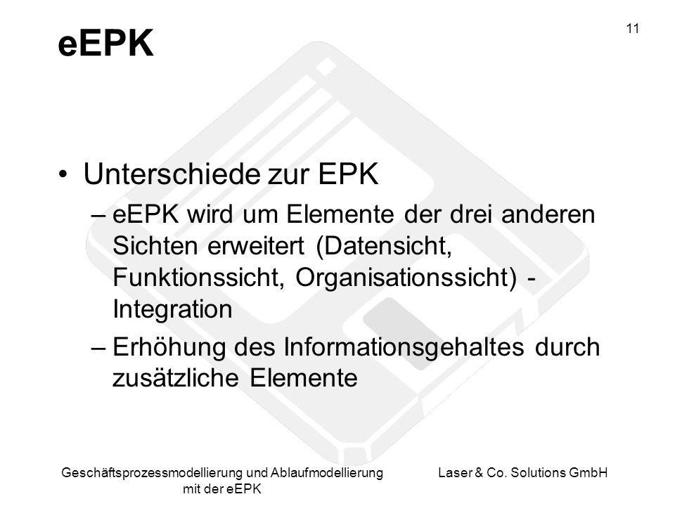 eEPK Unterschiede zur EPK
