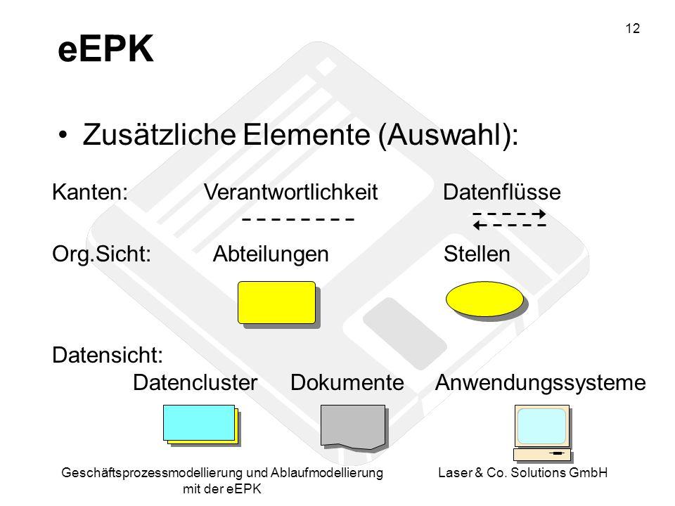 eEPK Zusätzliche Elemente (Auswahl):