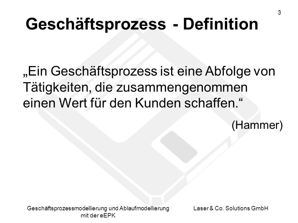 Geschäftsprozess - Definition