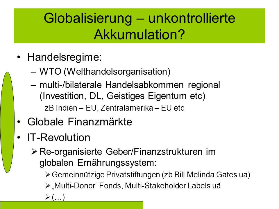 Globalisierung – unkontrollierte Akkumulation