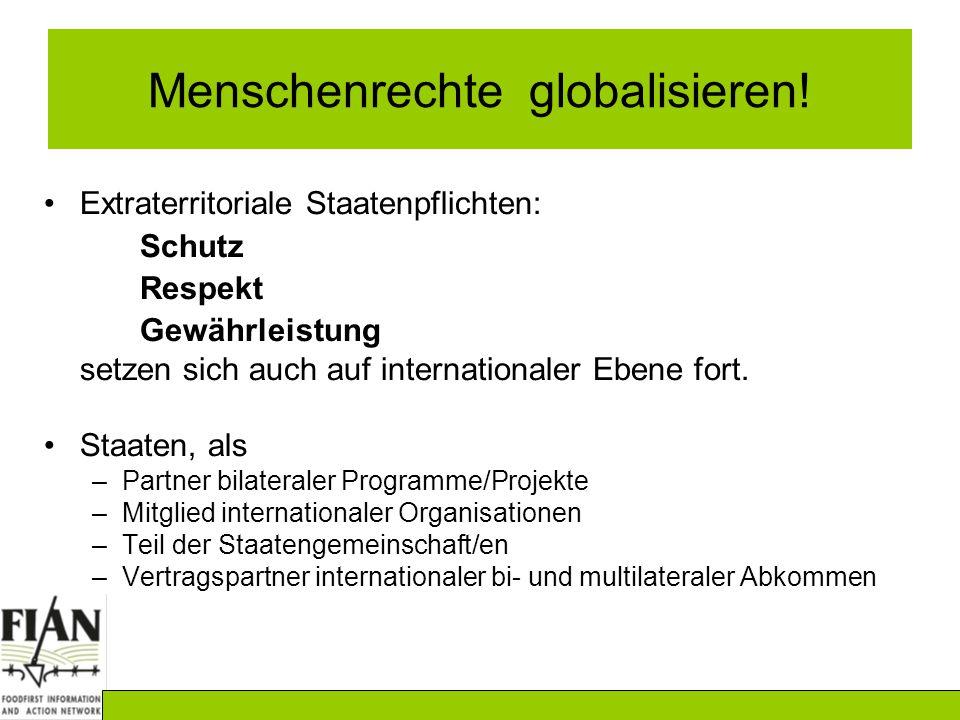 Menschenrechte globalisieren!