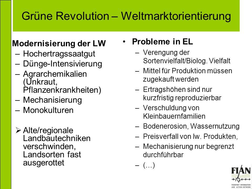 Grüne Revolution – Weltmarktorientierung