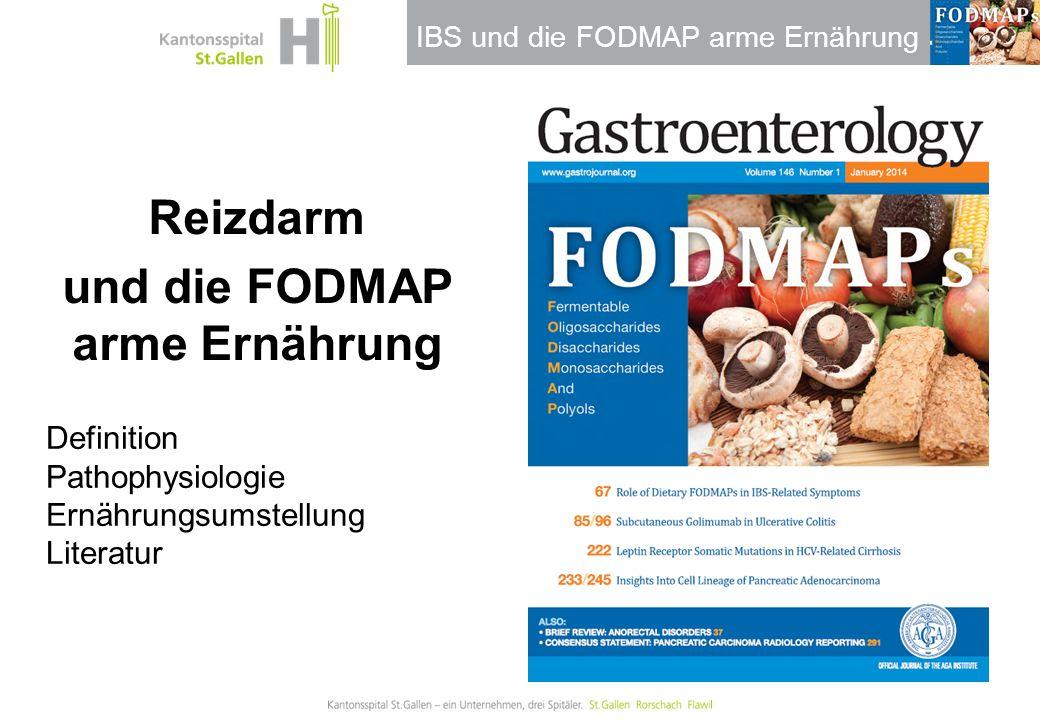 Thema / Bereich / Anlass Reizdarm und die FODMAP arme Ernährung
