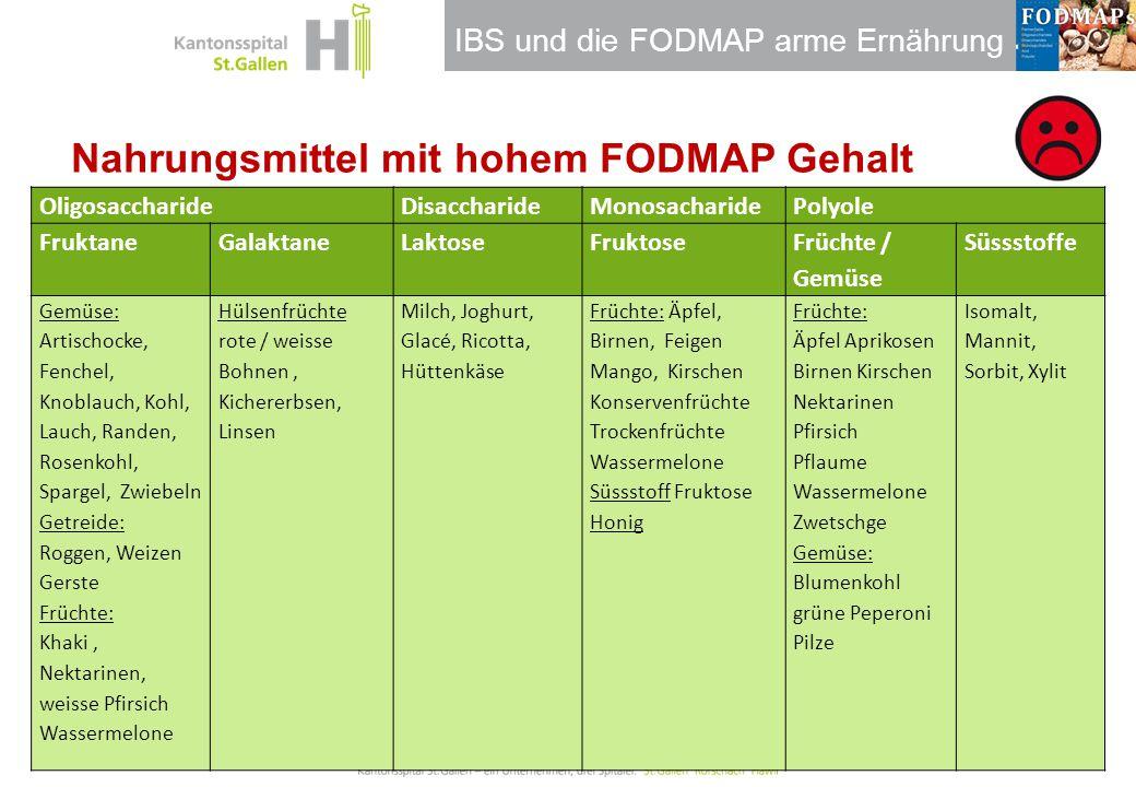 Nahrungsmittel mit hohem FODMAP Gehalt