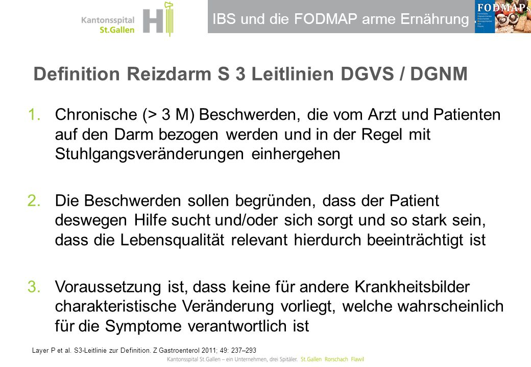 Definition Reizdarm S 3 Leitlinien DGVS / DGNM