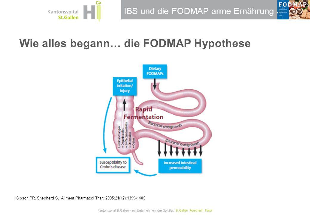 Wie alles begann… die FODMAP Hypothese