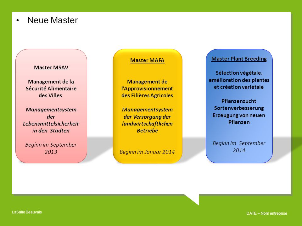 Neue Master Master MSAV
