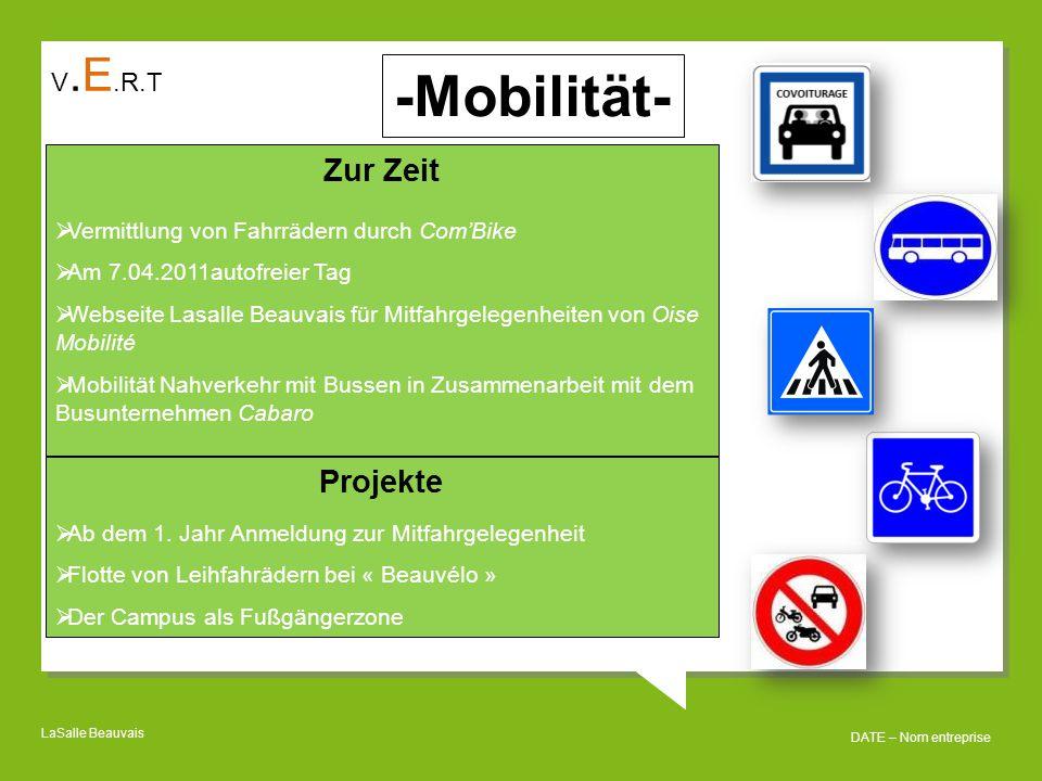 -Mobilität- Zur Zeit Projekte V.E.R.T