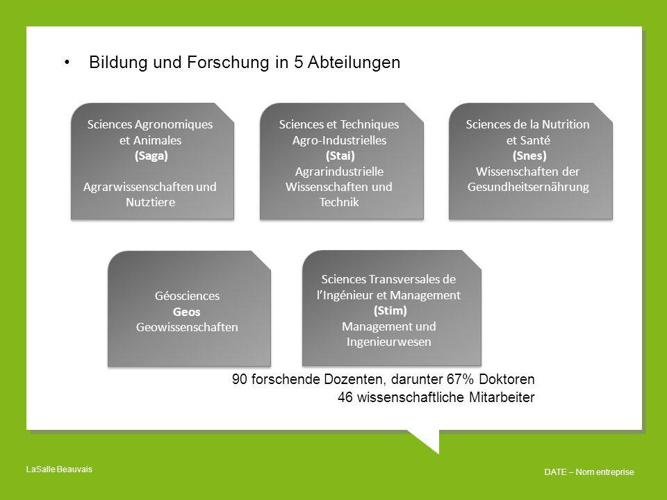 Bildung und Forschung in 5 Abteilungen
