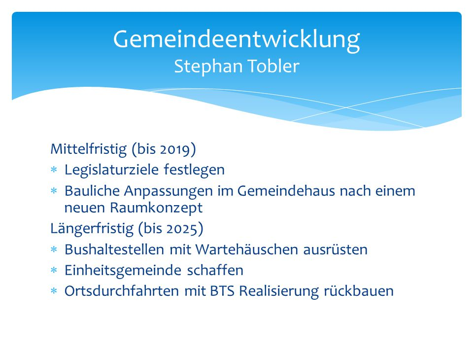 Gemeindeentwicklung Stephan Tobler