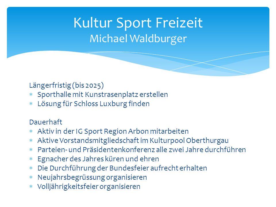 Kultur Sport Freizeit Michael Waldburger