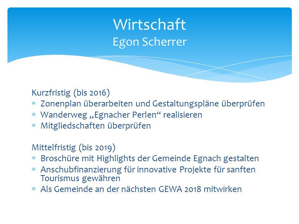 Wirtschaft Egon Scherrer